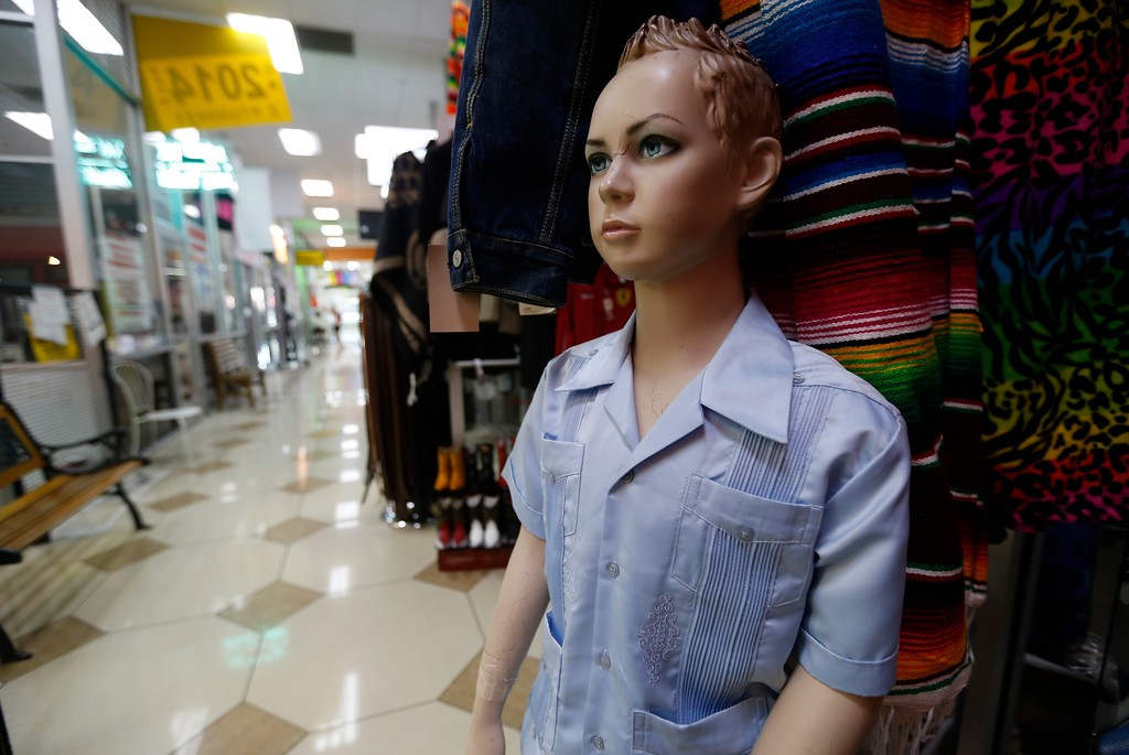 . A mannequin inside of La Placita Tropicana Shopping Center in San Jose, Calif., on Thursday, August 25, 2016. (Nhat V. Meyer/Bay Area News Group)