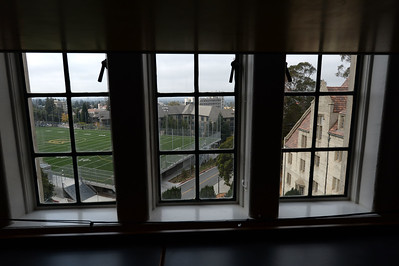 The view out of one of the rooms in the newly restored Bowles Hall on the campus of UC Berkeley in Berkeley, Calif., on Saturday, Aug. 20, 2016. The castle-like building is part of a larger revival of the throw-back staples of college life at large research institutions that used these types of student residences to reinvigorate the intellectual and social lives of their students. This undertaking was a multimillion dollar effort. (Dan Honda/Bay Area News Group)