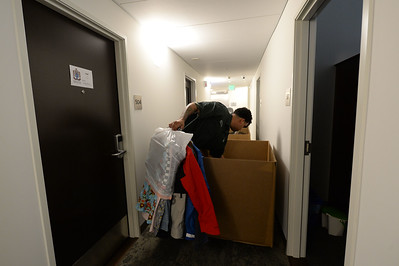 Jesse Lane, of Delancy Street Moving, helps students move into their rooms in the newly restored Bowles Hall on the campus of UC Berkeley in Berkeley, Calif., on Saturday, Aug. 20, 2016. The castle-like building is part of a larger revival of the throw-back staples of college life at large research institutions that used these types of student residences to reinvigorate the intellectual and social lives of their students. This undertaking was a multimillion dollar effort. (Dan Honda/Bay Area News Group)