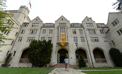 The exterior of the newly restored Bowles Hall on the campus of UC Berkeley in Berkeley, Calif., photographed on Saturday, Aug. 20, 2016. The castle-like building is part of a larger revival of the throw-back staples of college life at large research institutions that used these types of student residences to reinvigorate the intellectual and social lives of their students. This undertaking was a multimillion dollar effort. (Dan Honda/Bay Area News Group)