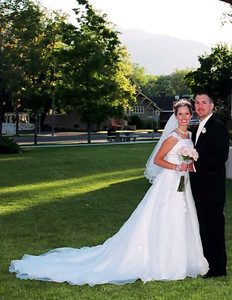 Courtesy April Katherman — San Jose police officer Michael Katherman, right, is pictured on his wedding day with his bride April in an undated family photo . Katherman, a San Jose motorcycle officer, died June 14, 2016 from injuries he suffered when he was hit on North Tenth Street near Horning Street by another motorist.