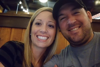Courtesy April Katherman — San Jose police officer Michael Katherman is pictured in a 'selfie' with his wife, April in an undated photo. Katherman, a San Jose motorcycle officer, died June 14, 2016 from injuries he suffered when he was hit on North Tenth Street near Horning Street by another motorist.