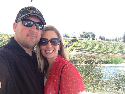 Courtesy April Katherman — San Jose police officer Michael Katherman is pictured in 'selfie' with his wife April in an undated photo. Katherman, a San Jose motorcycle officer, died June 14, 2016 from injuries he suffered when he was hit on North Tenth Street near Horning Street by another motorist.