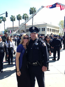 Courtesy April Katherman — San Jose police officer Michael Katherman is pictured with his wife April in an undated family photo. Katherman, a San Jose motorcycle officer, died June 14, 2016 from injuries he suffered when he was hit on North Tenth Street near Horning Street by another motorist.