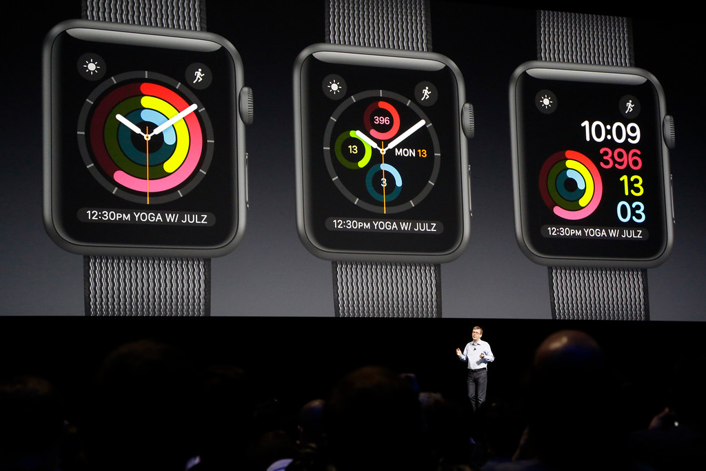 . Kevin Lynch, vice president of watchOS engineering, introduces many new features for the watchOS  at the Apple Worldwide Developer Conference held at the Bill Graham Civic Auditorium in San Francisco, Calif., on Monday, June 13, 2016. (Laura A. Oda/Bay Area News Group)