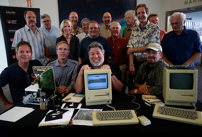 Early Apple Employees View Prototype Macintosh