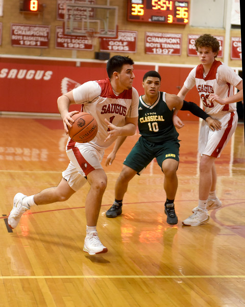 Sports. Boys Basketball Saugus vs Classical 8