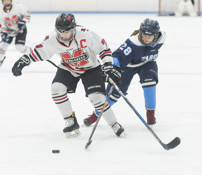 Marblehead V Peabody girls hockey 13