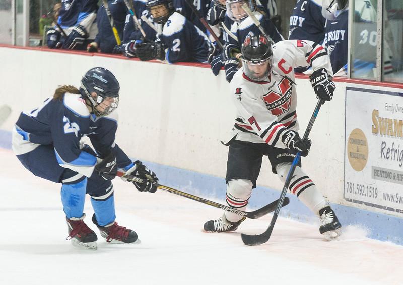 Marblehead V Peabody girls hockey 11