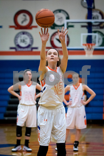 Sam Buckner for Shaw Media.<br /> Julie Galauner shoots a free throw in a game against Richmond-Burton on Tuesday February 7, 2017.