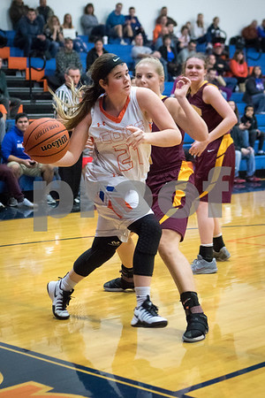 Sam Buckner for Shaw Media.<br /> Megan Zimmerman passes the ball along the baseline on Tuesday February 7, 2017.