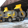 Mark Busch - mbsuch@shawmedia.com<br /> DeKalb Highway Department plows unload their extra salt at the Highway Facility Feb. 7, so it is ready to go for the snow that is predicted to fall the rest of this week.