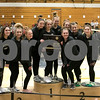 Sam Buckner for Shaw Media.<br /> DeKalb-Sycamore Co-op gymnastics team stands on the podium after winning sectionals on Wednesday February 8, 2017.