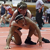Jen Forbus - The Morning Journal<br /> Pioneer Matt Zuckerman has a lock on the 132 pound weight division.