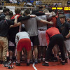 Jen Forbus - The Morning Journal<br /> The Elyria wrestling squad gathers for a team powwow before the first round of the Dual Team State Tournament Sunday morning.