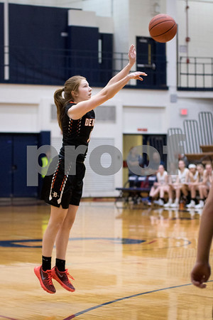 Sam Buckner for Shaw Media.<br /> Hanna Hickey of DeKalb shoots a 3 pointer in the 4A regional game against Glenbard North on Monday, Feb. 13, 2017 at James B. Conant High School in Hoffman Estates.