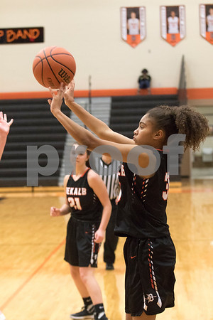 Sam Buckner for Shaw Media.<br /> Kayla Webb puts up a jumpshot on Monday February 12, 2018 during the 3A regional game against Conant.