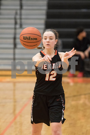 Sam Buckner for Shaw Media.<br /> Haley Brown passes the ball on Monday February 12, 2018 during the 3A regional game against Conant.