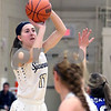 Sycamore's Kate Majerus takes a shot during their IHSA class 3A regional semifinal on Wednesday, Feb. 16, 2017 at Wheaton Academy in West Chicago. The Spartans won 33-18.  Photograph by Jeff Krage for Shaw Media