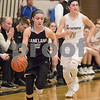 Sam Buckner for Shaw Media.<br /> Hannah Armin of Kaneland takes the ball down the court on Thursday February 15, 2018 during the Regional game at Sycamore.