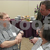 Eric Schelkopf - eschelkopf@shawmedia.comJoseph Posledni, 75, of West Chicago (left), speaks with Dr. Neil J. Thomas (right), attending cardiovascular surgeon at Northwestern Medicine Central DuPage Hospital, as Posledni's wife, Toni, looks on. Northwestern Medicine Central DuPage Hospital is the first hospital in Chicago's western suburbs to offer a recently approved, less invasive, aortic valve for patients with aortic valve disease, according to Northwestern Medicine.