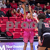 Sam Buckner for Shaw Media.<br /> Nicole Orr takes a jumpshot on Saturday February 17, 2018 against Ball State.