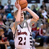 Sam Buckner for Shaw Media.<br /> Indian Creek's Kevin Jordal shoots a jump shot during their regional semifinal boys basketball game against Ashton-Franklin Center on Wednesday, Feb. 22, 2017 at Indian Creek High School in Shabbona.  Indian Creek won the game 48-45 to advance to the regional final against DePue on Friday.