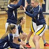 Paul DiCicco - The News-Herald<br />  The hosting Wickliffe Blue Devils being announced for their first round OHSAA Playoff game against Warrensville Hts on Feb 22.