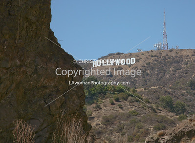 Bronson Caves and Hollywood sign