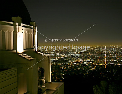 LA City lights from the Griffith Park Observatory