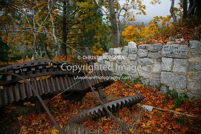 Fall foliage at the Echo Mountain resort ruins