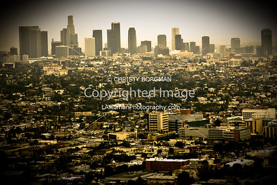 Downtown Los Angeles from the Griffith Park Observatory