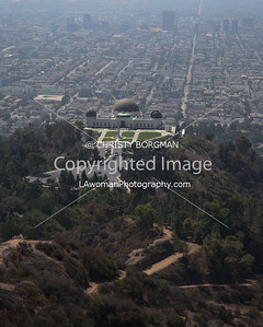 Griffith Park Observatory from Mount Hollywood.