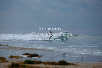 Surfer at Zuma