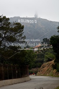 Hollywood Sign from trail at Lake Hollywood Reservoir