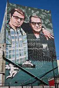 Hector Ponce mural near MacArthur Park