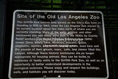 Old Los Angeles Zoo, Griffith Park.