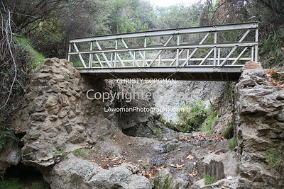 Temescal waterfall.  Wait. What?  Yeah, waterfall.  We haven't had much rain.