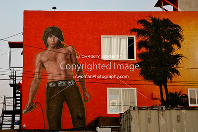 Jim Morrison mural by Rip Cronk in Venice Beach, CA