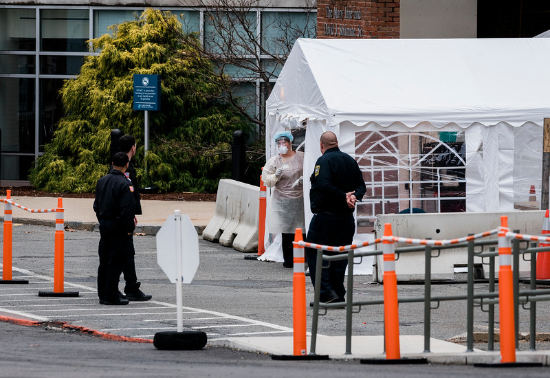 3 20 20 Lynn Union Hospital testing tent