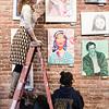3 27 18 Classical students hang art 1