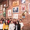 3 27 18 Classical students hang art