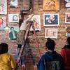 3 27 18 Classical students hang art 3