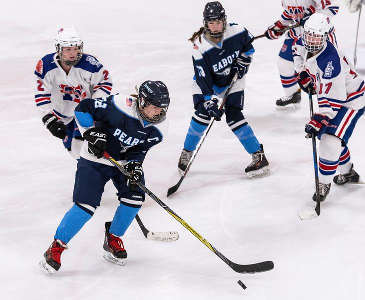 3 7 19 Peabody at Tewksbury girls hockey 8