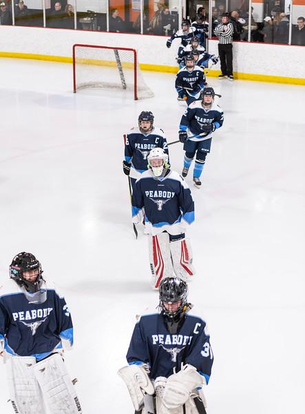 3 7 19 Peabody at Tewksbury girls hockey 11