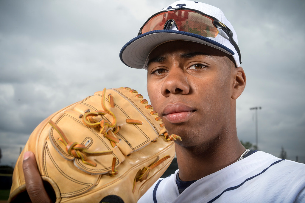 . Notre Dame\'s Hunter Greene.  (Photo by David Crane, Los Angeles Daily News/SCNG)