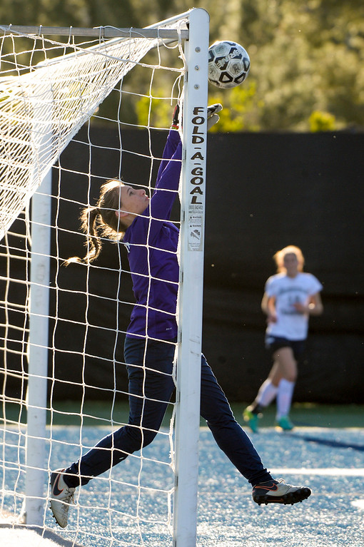 . Viewpoint\'s Jcqueline Edell, #1, makes a save against Sierra Canyon during game action at Sierra Canyon Thursday, March 9, 2017.  Sierra Canyon defeated Viewpoint 3-0.    (Photo by David Crane, Los Angeles Daily News/SCNG)