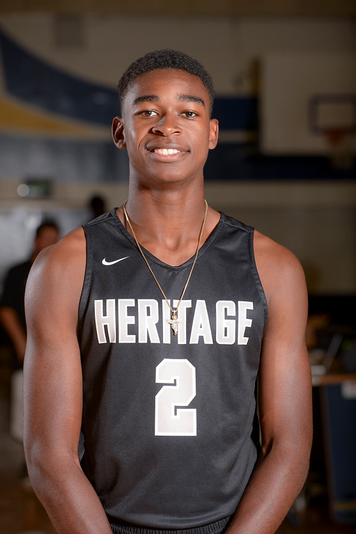 """. Juhwan \""""HD\"""" Harris-Dyson, Heritage Christian.  (Photo by David Crane, Los Angeles Daily News/SCNG)"""