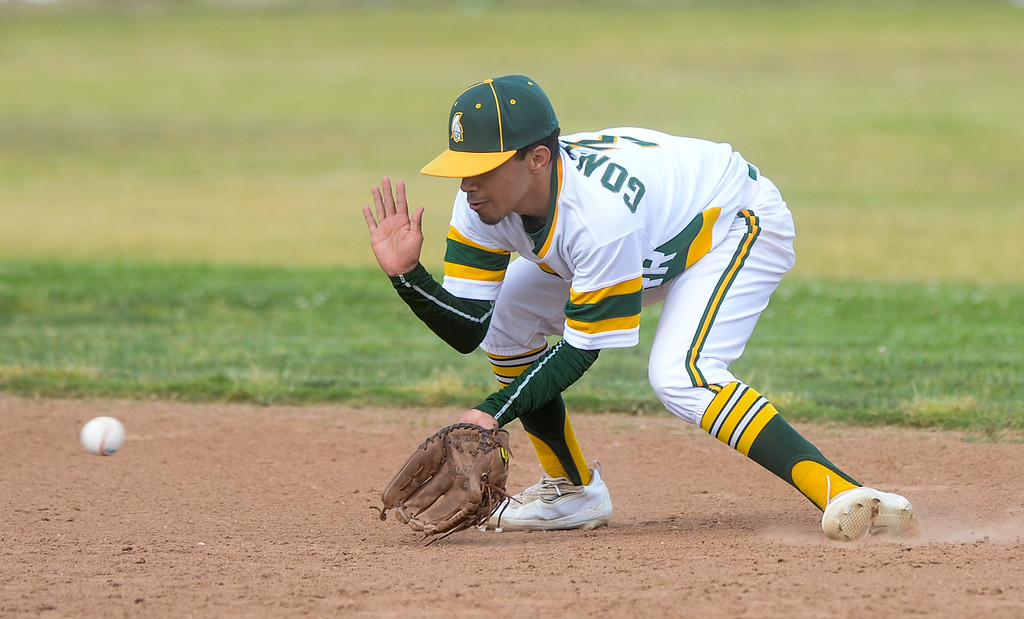 . Schurr plays Alhambra in their Almont League baseball game at Schurr High School in Montebello on Tuesday April 25, 2017. (Photo by Keith Durflinger/Whittier Daily News/SCNG)