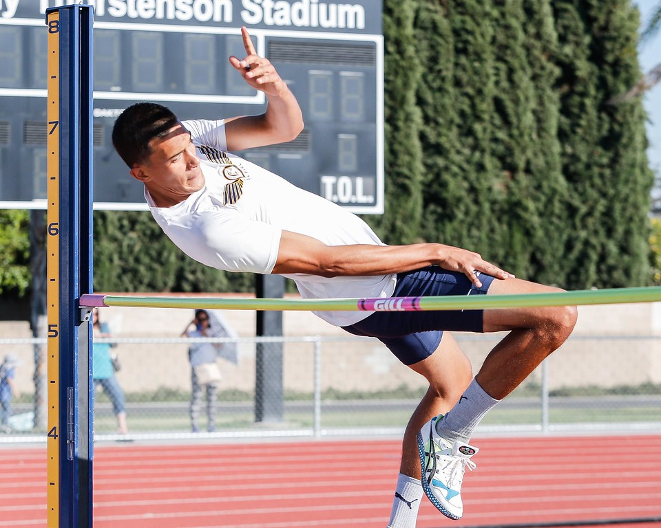 . Luis Torres of Cal High clearing 5�4� in the Del Rio League Track Finals Thursday May 4, 2017 at Cal High. Torres place 3rd. (Correspondent photo by Chris Burt/Sports: To purchase these pictures contact the photographer directly clburt@verizon.net )